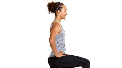 Tone up in town: Walking lunge