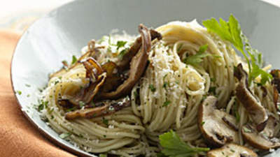 WholeWheat Pasta With Mushrooms