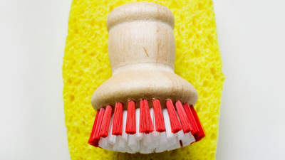 Sponges and scrub brushes