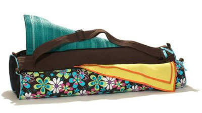 Yoga mat with compartments
