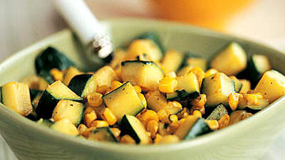 Zucchini with Corn and Cilantro