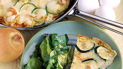 Zucchini and Rosemary Frittata With Parmesan