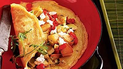 Artichoke-Goat-Cheese-Potato-Omelet
