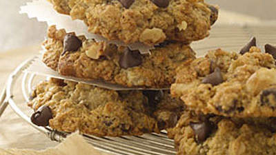 Banana-Oatmeal-Chocolate-Chip Cookies