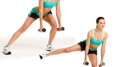 Lower body: One-legged lunge with lift