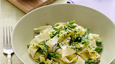 Pappardelle With Lemon Gremolata and Asparagus