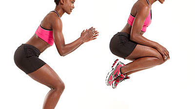Lower body: Broad jump + tuck