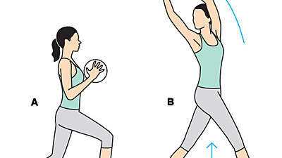 Split Squat Rotation
