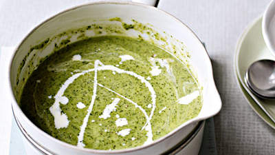Watercress Soup With Toasted Almonds