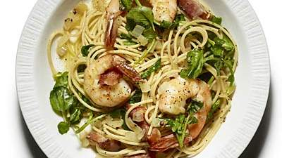 spaghetti-bacon-shrimp