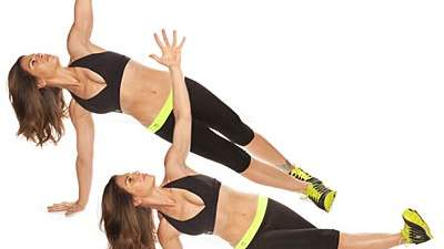 Side plank with inner thigh raise