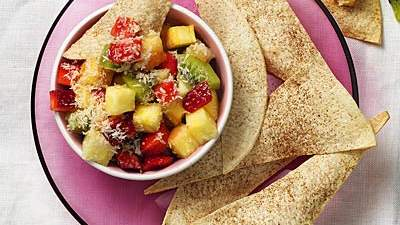 Spiced Tortillas with Tropical Fruit Salad