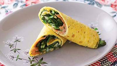 Omelette wrap: Nutrition & calories