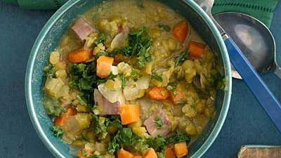 split-pea-greens-soup