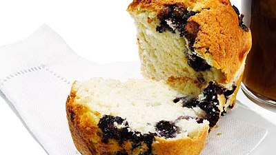 Your Usual Breakfast: Reduced-fat blueberry muffin