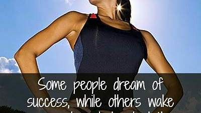 Work hard at your dreams