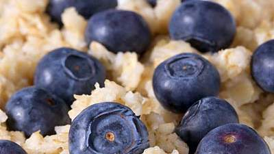 Oatmeal and blueberries