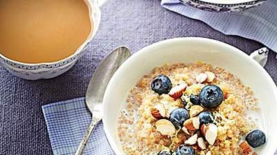 Lemon-Blueberry Quinoa Porridge