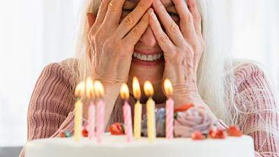 Women blow out more birthday candles