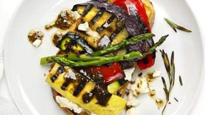 open-face-grilled-vegetable-sandwich
