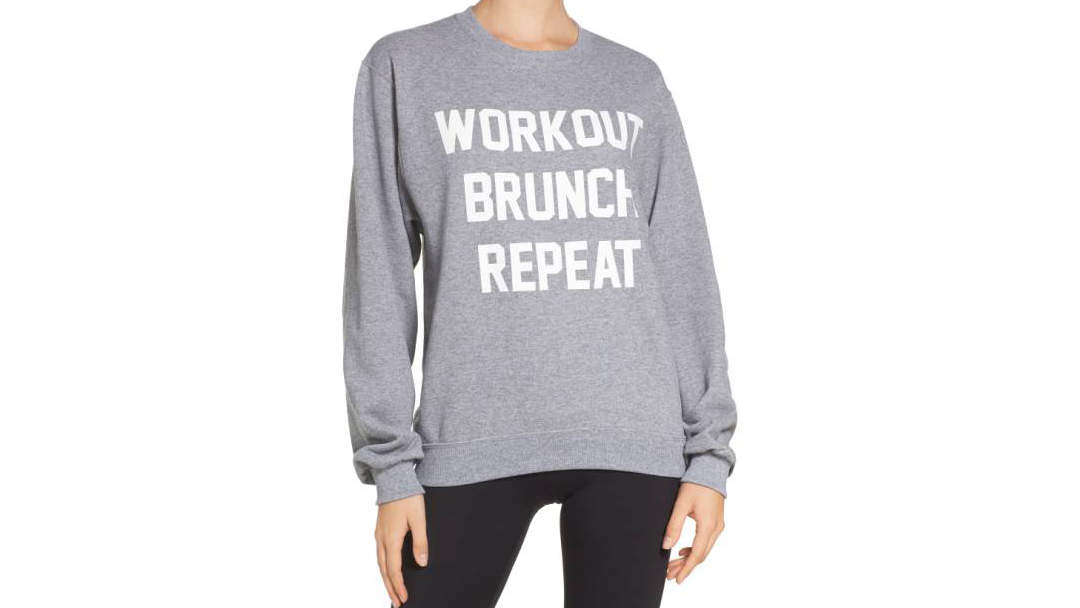 <p>Private Party Workout Brunch Repeat Sweatshirt</p>