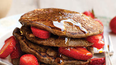 Buckwheat-Flax Pancakes with Walnuts