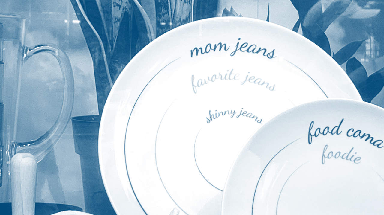 Macy's Pulls Plates with 'Mom Jeans' vs. 'Skinny Jeans' Portion Sizes After Backlash