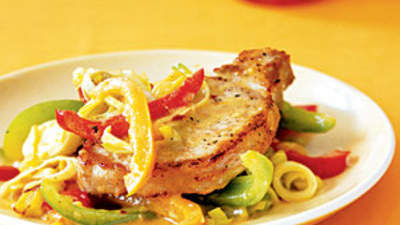 orange-pork-with-sauteed-leeks