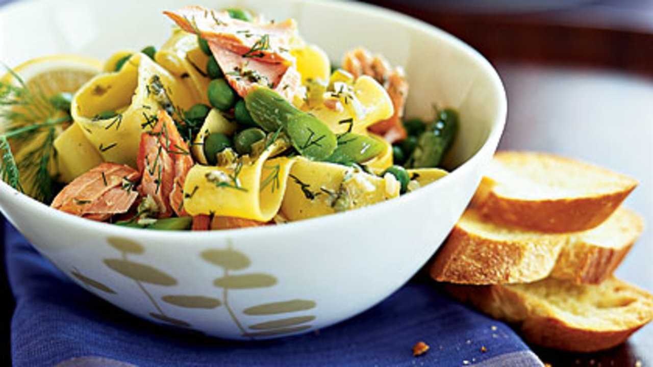 pappardelle with asparagus and salmon recipe health