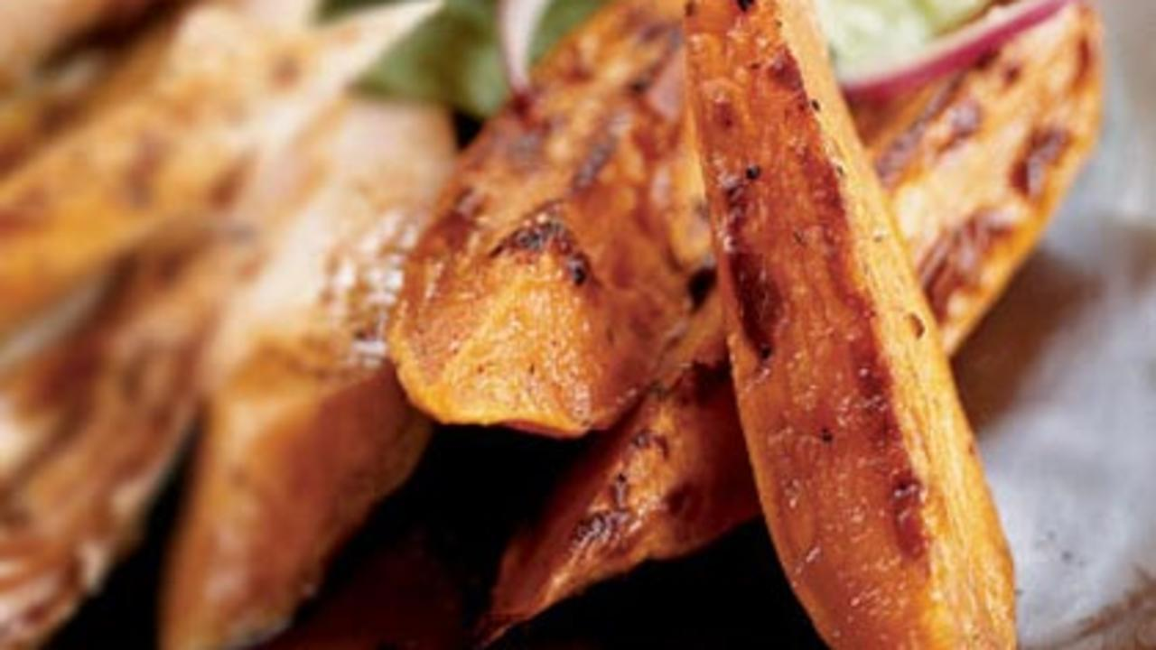 Spicy Sweet Potato Wedges Recipe - Health