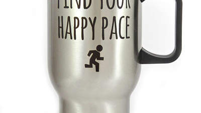 Find Your Happy Pace travel mug