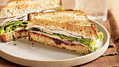 Turkey Sandwich With Spicy Cranberry Spread Recipe - Health