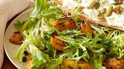 Warm Salad of Kabocha and Goat Cheese With Currants