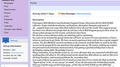 Yahoo! Health Groups