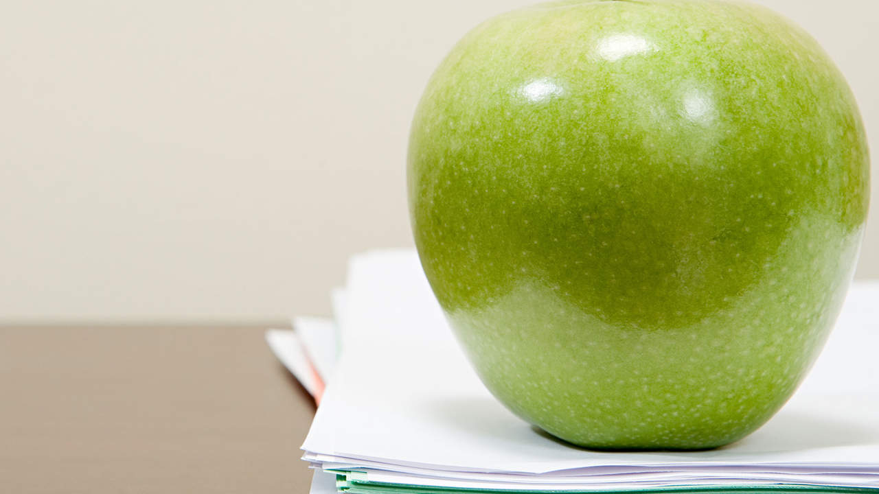 Keep an apple on your desk