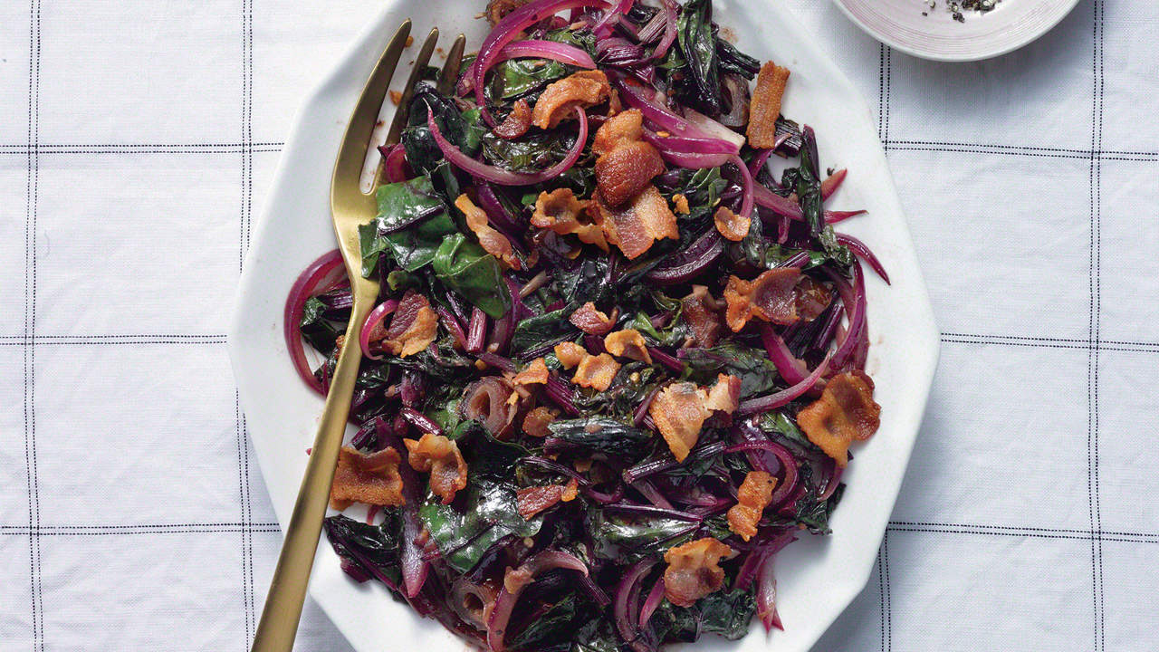 bacon beet greens