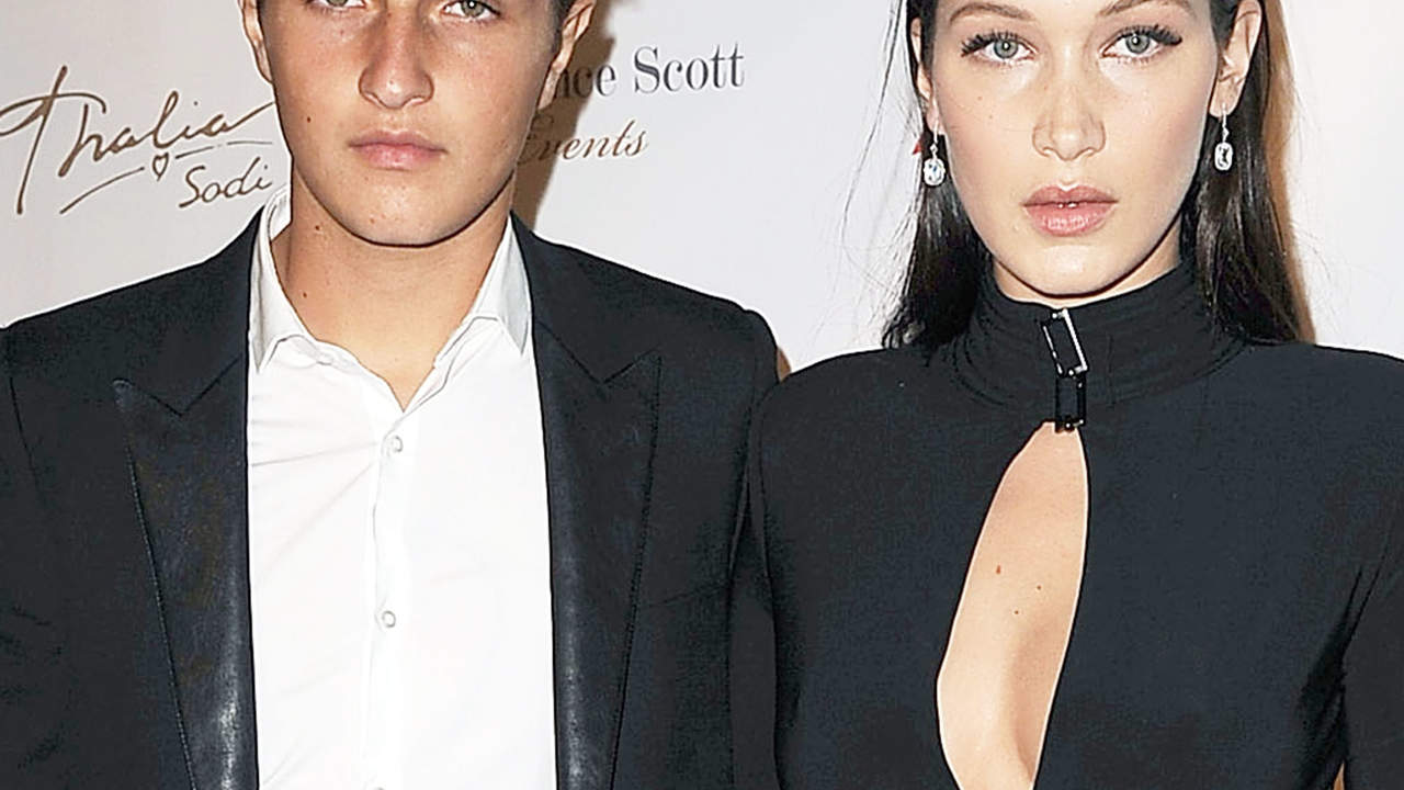 Bella Hadid and Anwar Hadid