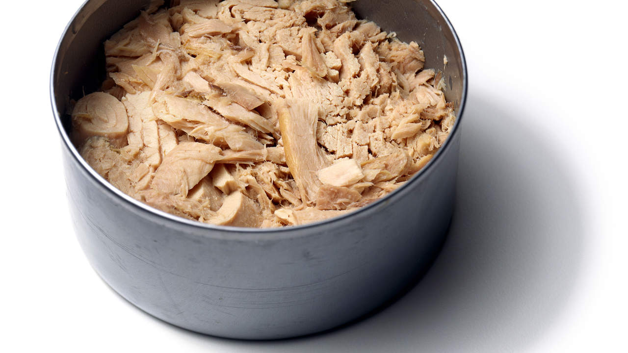 Canned tuna, salmon, and sardines