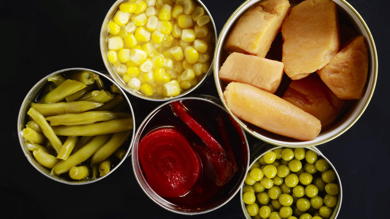 Ready-to-eat canned vegetables