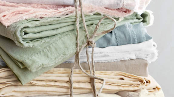 Eileen Fisher Washed Linen Collection Sheets