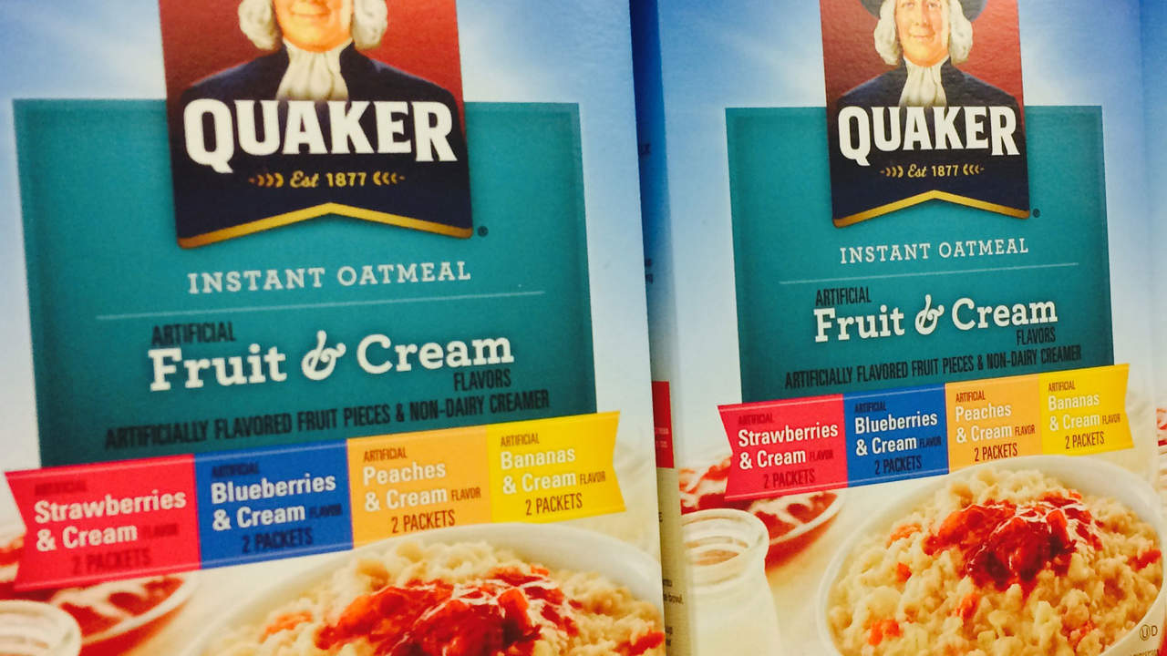 flavored oatmeal has a lot of sugar