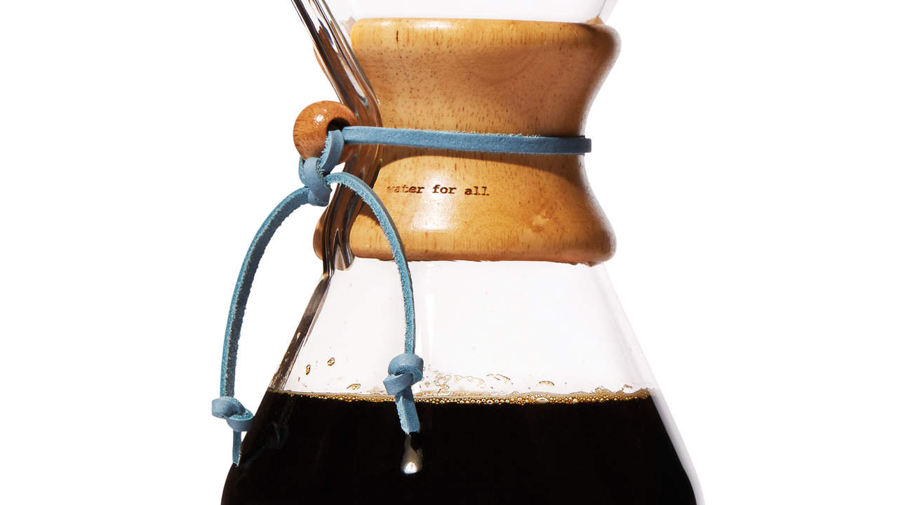 TOMS and Chemex coffee maker