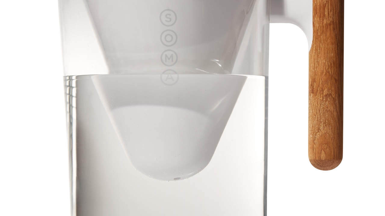 Soma sustainable pitcher and plant-based water filter