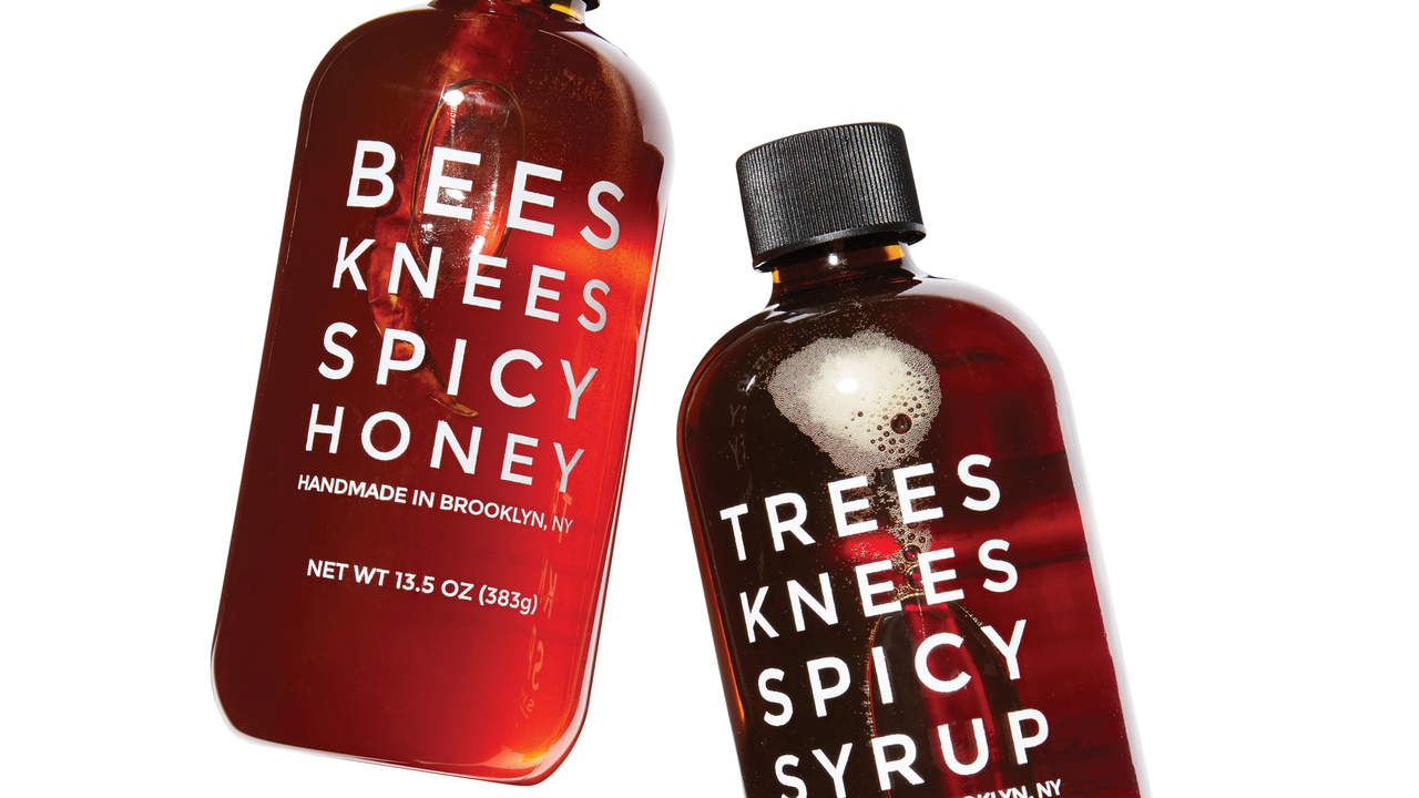 MixedMade additive-free spicy honey and maple syrup