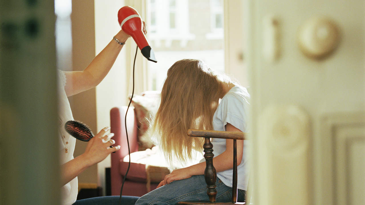 Blast your hair with a blow dryer.