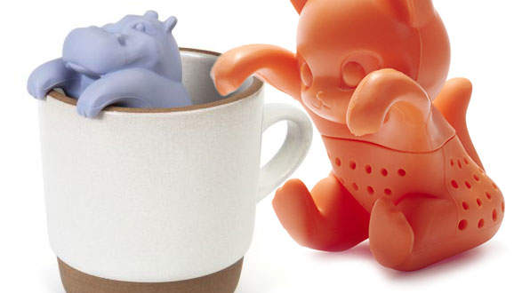 gama-go hippo and kit tea infuser