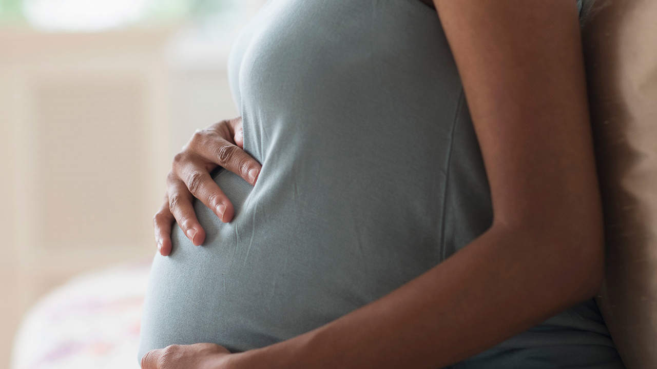 stress in pregnancy left