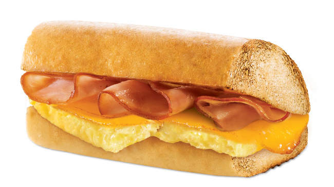 Quizno's Ham and Egg Sub