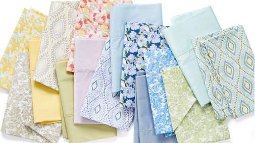 Martha Stewart Collection Wild Blossoms 400 Thread Count Percale Sheet