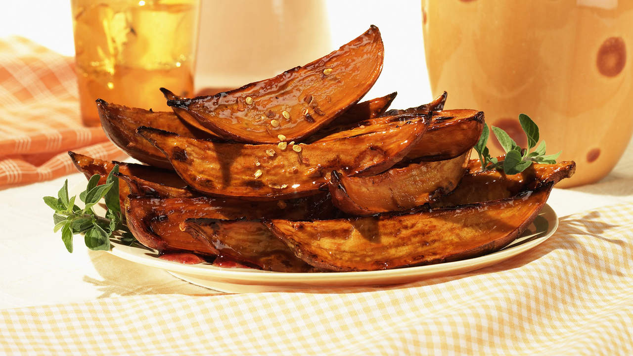 Best potato side: Roasted sweet potato wedges